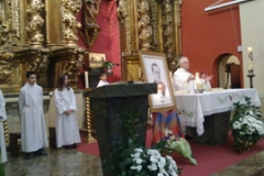 Entronización del Beato Nicolás Ran Goñi en la Iglesia de Cirauqui