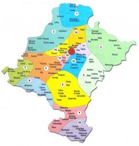 Arciprestazgos de las diócesis de Pamplona y Tudela