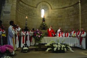 Primera misa de Jonathan y Alfonso en el Crucifijo de Puente la Reina 2